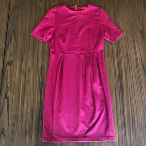 Ivanka Trump structured pink knee length dress